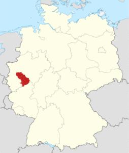 Lage des Bergischen Lands in Deutschland